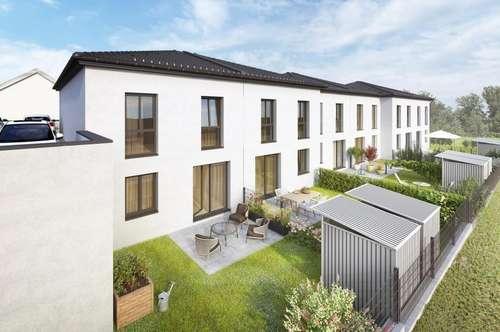 MANNLICHER   PROVISIONSFREI: Neu errichtete Reihenhäuser mit Terrasse, Garten und 2 Stellplätzen