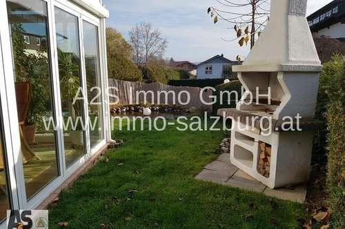 4-5 Zi-GARTENWOHNUNG 132m² mit Wintergarten, Garage, Keller, in Obertrum/Seenähe, sehr ruhig, sonnig