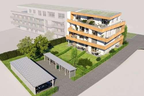 2-Zimmer-Erstbezugswohnung mit großer Terrasse mit Blick auf den Schloßberg