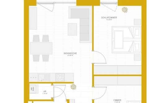 Provisionsfreie 3-Zimmerwohnung ab 01.04.2019 zu vermieten