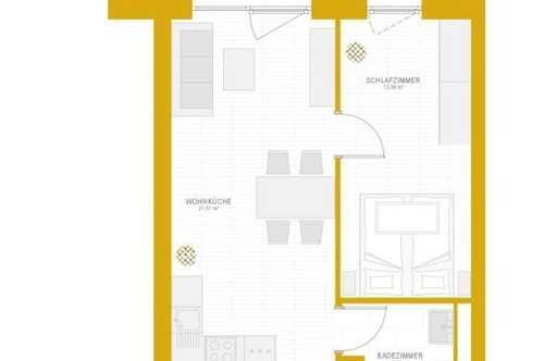 2-Zimmererstbezugswohnung ab 01.04.2019 provisionsfrei zu vermieten!