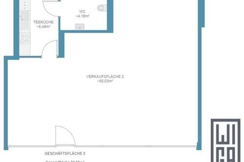 76m² Geschäftslokal   Neubau   provisionsfrei   Bezug Oktober 2019