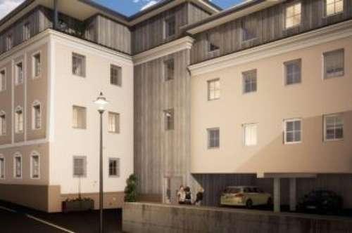 Neue 3-Zimmer-Wohnung mit möblierter Küche, 2 Terrassen und Garage in Maria Schmolln