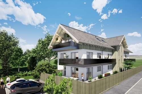 Neubau Eigentumswohnung in Haselbach, am Grüngürtel von Braunau gelegen