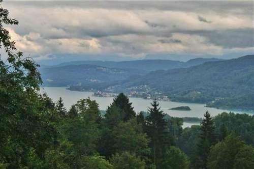 Wörthersee - traumhafter Seeblickbaugrund Villenlage zw. Velden und Pörtschach