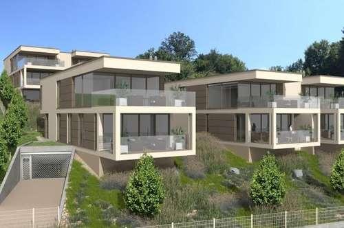 AUEN VILLEN - Exklusive 3 Zimmer-Seeblickwohnung mit großer Terrasse und Anteil am eigenen Seegrundstück, 2 TG und Pool