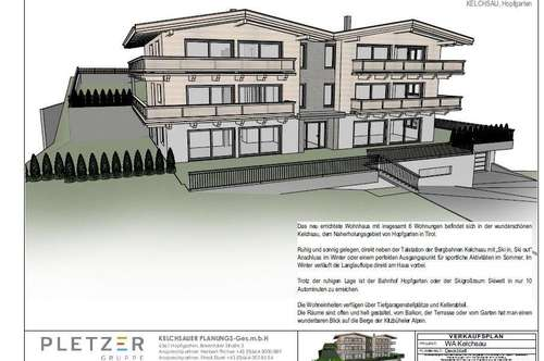 Neubauprojekt Alpenresidenz Kitzbüheler Alpen - Kelchsau Top 3