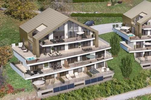 Apartment im Erdgeschoß mit Seeblick und Seezugang