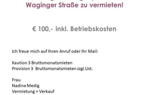 Geräumiger Garagenplatz in der Waginger Straße (Liefering) zu vermieten!