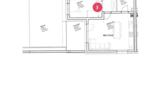 Wunderschöner Erstbezug, 3 Zimmer EG Wohnung 75 m² € 859, - mit ca 50 m² Eigengarten