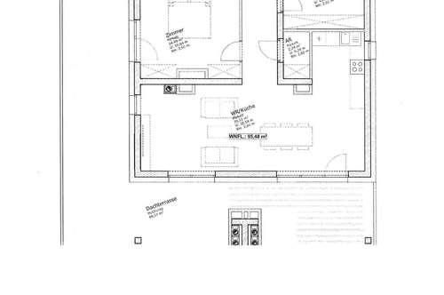 Wunderschöner Erstbezug, 3 Zimmer DG Wohnung, 96 m² inkl BK € 1279, -