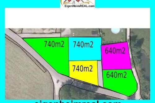 Baugrundstücke 640m2 und 740m2 Techelsberg am Wörthersee