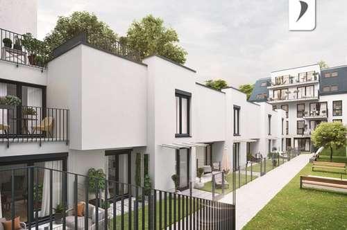 Kleinfamilientaugliches Townhaus mit Privatgarten & Dachterrasse