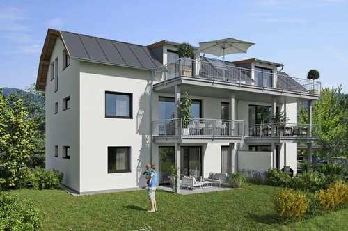 Wals - Viehhausen: Neubau 4 Zimmer Dachgeschoß Wohnung mit Terrasse