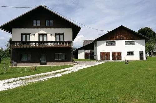 Wohnhaus mit Stallgebäude in idyllischer Lage direkt an der Drau