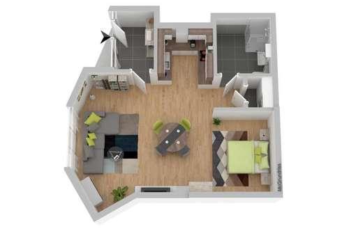 Neue große 1 Zimmer Wohnung mit Küche