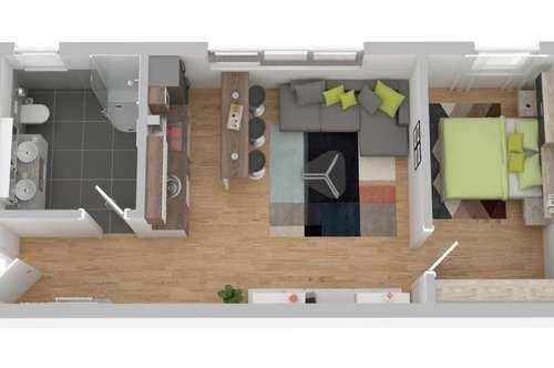 Neue 2 Zimmer Wohnung mit Küche