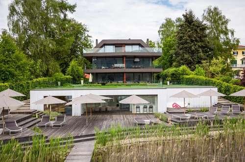 Wörthersee Nordufer - Obergeschoß Villenetage in Luxusvilla mit Bootsliegeplatz