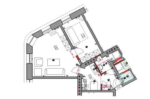 53 m2 Wohnung in neu saniertem Haus ab 1.6.2020 neu zu vermieten