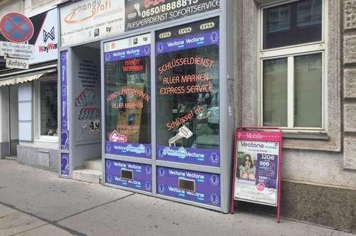 Handyshop auf der Thalistraße.
