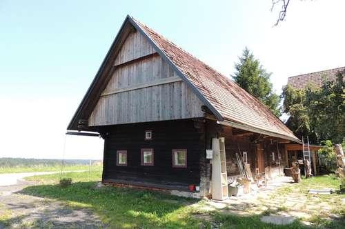Historisches weststeirisches Holzblockhaus