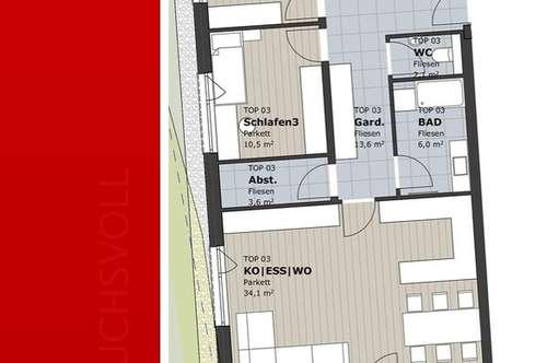 Familientraum- provisionsfreie Neubau 4-Zimmer Wohnung