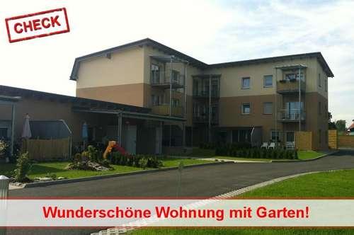 Neuwertige 2-Zimmer-Wohnung mit Terrasse und Garten
