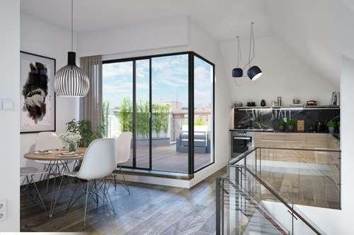 360 Grad Wien-Blick! Luxuriöse 4-Zimmer-Dachgeschosswohnung Grünruhelage!