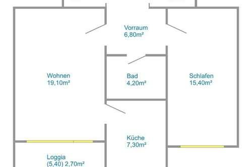 Gratkorn-Kirchenviertel: Toll aufgeteilte 2-Zimmer-Whg. in Ruhelage
