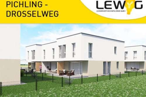 Geförderte Reihenhäuser in Pichling, 106m2 + Terrasse