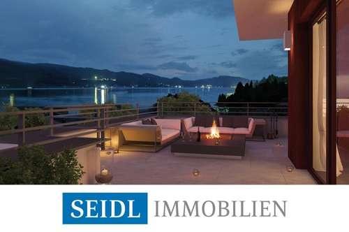 Seeblickwohnung in Velden mit Bademöglichkeit