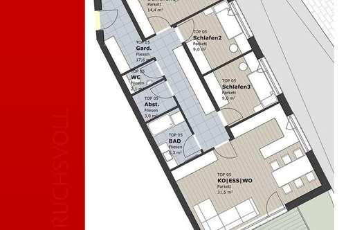 Top Preis-Leistungverhältnis nur 3.094 €/m²!!! Provisionsfreie 4 Zi-Neubauwohnung