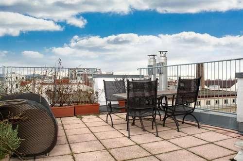 Exklusivität & urbaner Lifestyle! Hochwertige 2-Zimmer-Dachterrassen-Wohnung!