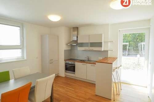 Vollmöblierte 2 ZI-Wohnung mit Garten und Küche - Nähe MED-Uni!