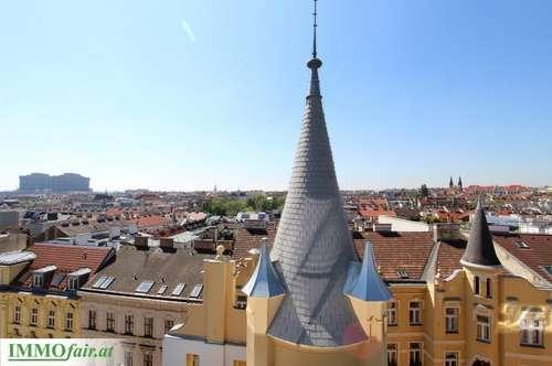 Außergewöhnliches Dachgeschoß in prächtigem Altbau (Top 16: 4 Zimmer/ ca. 131m² + ca. 37m² Terrasse)