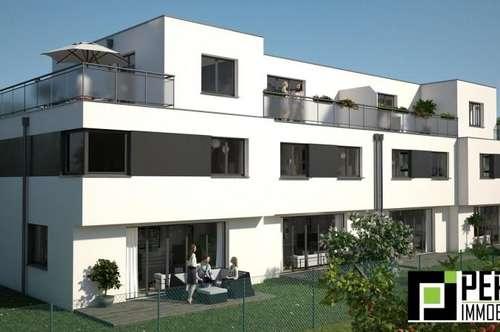 Tolle Ruhelage - nur 2.925 Euro / m² !! Designer Reihenhäuser auf Eigengrund im 22.Bezirk - Rarität!!
