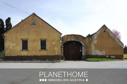 Kleines Bauernhaus mit zwei Baugründen