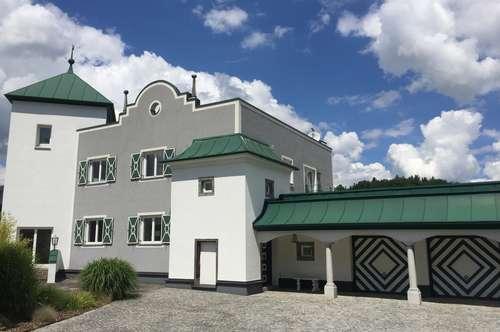 Extravagante Villa mit weißen Türmen und Pool nördlich Mattsee  -  bitte KEINE Makler, Plattformen, etc.!