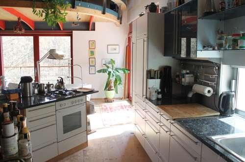 Ein grandioses Bio-Architektenhaus gelangt zu Verkauf, unverbaubarer Fernblick bis Wien