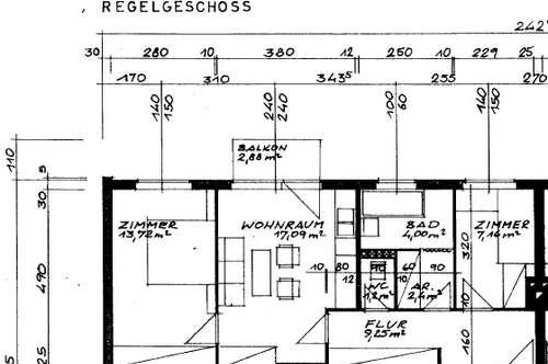 Helle - Drei - Zimmer - Wohnung ca. 55 m² + Balkon - nähe Plus City, Im Grenzwinkell
