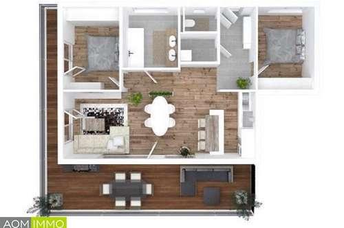 Neubau Wohnung mit Penthouse Charakter in Kalsdorf bei Graz.