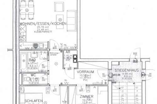 Wunderschöne - Drei Zimmer - Wohnung mit ca.  67 m² in  Traun + Balkon - Schulstraße