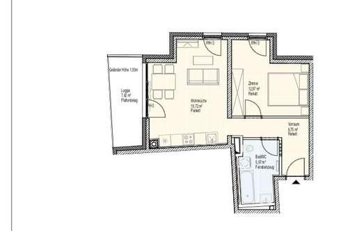 Provisionsfreie 2 Zimmer Wohnung, Erstbezug inklusive Tiefgaragenplatz, Balkon  und Sauna im Zentrum von Schwechat