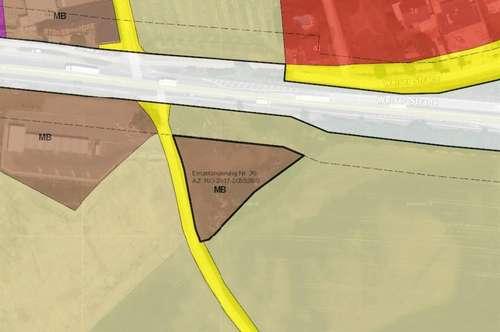 Grundstück direkt an der B1 in Marchtrenk zu vermieten - Baurecht