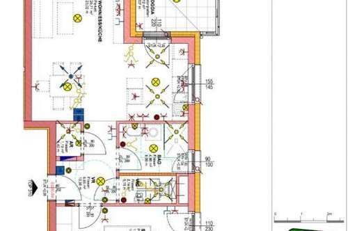 ERSTBEZUG NEUBAU! 2 Zimmerwohnung mit Loggia/Balkon und TG-Platz in Thalheim/Wels