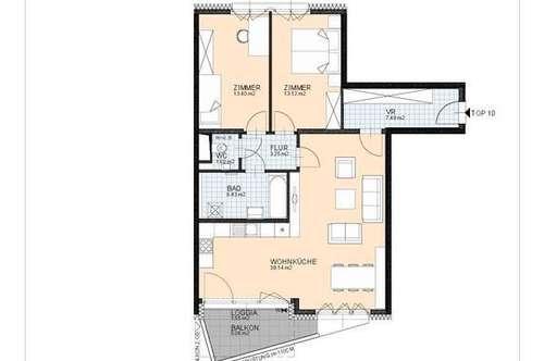 3-Zimmer-Mietwohnung am Rathausplatz