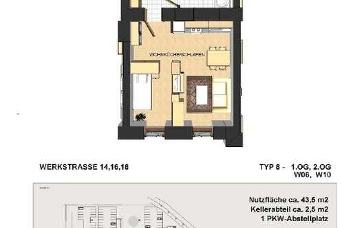 Werkstraße / Schöne Kleinwohnung zu vermieten! NUR NOCH STROM ANMELDEN!