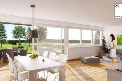 Neue, moderne 3-Zimmer Wohnung mit sensationellem Blick auf dem Wörthersee