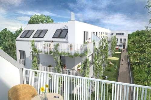 geräumige Dachgeschosswohnung mit 30m² Dachterrasse und Grünblick