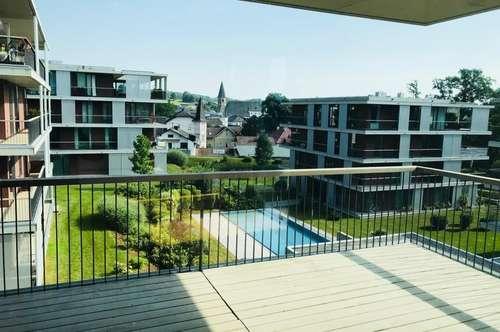 Perfekt aufgeteilte 2-Zimmer-Wohnung mit Pool